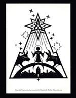 Künstler AK Scherenschnitt: Elisabeth Roth,Motiv Weihnachten Karte N.gel -6- - Scherenschnitt - Silhouette