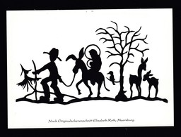 Künstler AK Scherenschnitt: Elisabeth Roth,Motiv Weihnachten Karte N.gel -1- - Silhouette - Scissor-type