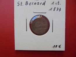 PRISON DE SAINT-BERNARD 1 CENTIME 1833 - Collections