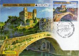 Italia 2017 Serie EUROPA Dolceacqua Castello Doria Cartolina Filatelica FDC - Castelli