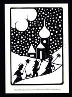 Künstler AK Scherenschnitt: Elisabeth Roth,Motiv Weihnachten Karte N.gel -3- - Silhouette - Scissor-type
