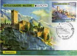 Italia 2017 Serie EUROPA Malcesine (VR) Castello Scaligero Cartolina Filatelica FDC - Castelli