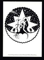Künstler AK Scherenschnitt: Elisabeth Roth,Motiv Weihnachten Karte N.gel -4- - Silhouette - Scissor-type