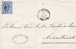 14 JUN 75 Brief Met NVPH 19 Met Punt 67 Van Leeuwarden Naar Maastricht - 1852-1890 (Guillaume III)