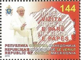 MK 2019-10 PAPA VISIT MACEDONIA, NORTH MACEDONIA, 1 X 1v, MNH - Mazedonien