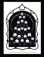 Künstler AK Scherenschnitt: Elisabeth Roth,Motiv Weihnachten Karte N.gel -5- - Silhouette - Scissor-type
