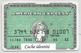 American Express 1980 - Carte Di Credito (scadenza Min. 10 Anni)
