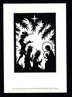 Künstler AK Scherenschnitt: Elisabeth Roth,Motiv Weihnachten Karte N.gel -2- - Scherenschnitt - Silhouette