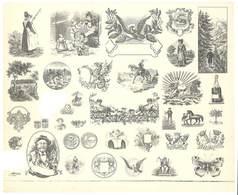 Feuille D'imprimeur ( A. Waton, Saint Etienne ) Illustrée De Dessins (modèles En-tête De Factures ) - Facturas & Documentos Mercantiles