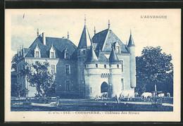 CPA Courpière, Vue Du Château Des Rioux, Troupeaux De Vaches Devant - France