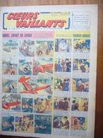 """Coeurs Vaillants N°27 Du 4 Juillet 1943 Avec Planche De Tintin """"L'Etoile Mystérieuse"""" - Magazines"""