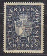 Liechtenstein 1939 Freimarken 3Fr Mh Very Light Hinged (42728) - Liechtenstein