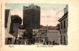 Czech Republic, Cheb, Eger, Der Schwarze Turm, The Black Tower,Old Postcard - Czech Republic