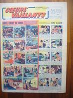 """Coeurs Vaillants N°28 Du 11 Juillet 1943 Avec Planche De Tintin """"L'Etoile Mystérieuse"""" - Magazines"""