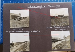 6 Photos Aus Album Apremont Vouziers Dricourt Ferme Chambres    -  Photo Allemande Guerre 1914-1918 - France