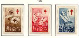 PIA - FINLANDIA - 1954 : Pro Tubercolotici - Insetti -  (YV  417-19) - Malattie