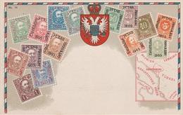 Philatelie Litho AK Montenegro Crna Gora Црна Гора Briefmarke Stamp Timbre K U K Österreich Ungarn Cesky Tesin Teschen - Montenegro