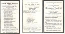 COUCKELARE - 1859 - 1947 -  Lot Van 3 Devotieprenten - Devotieprenten