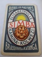 Lubumbashi, République Démocratique Du Congo Brasserie Du Katanga Simba Brasserie Du Katanga Une Carte à Jouer Jeu - Autres