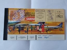 Billet Avion Sabena Bruxelles- Palma-Bruxelles Publicité Agfa Color Au Dos Gevaert Complet  Monsieur Fayt - Flugtickets