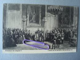 Avènement De Léopold II, L'ordre De La Jarretière Est Conféré Au Roi. - Familles Royales
