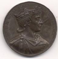 Médaille Du Roi Louis II Le Bègue    Graveur : CAQUÉ - Royaux / De Noblesse