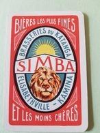 Lubumbashi, République Démocratique Du Congo Brasserie Du Katanga Simba Une Carte à Jouer Jeu Cartes - Autres