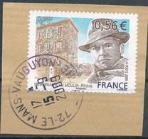 France - Jean Moulin YT 4371 Obl. Cachet Rond Sur Frament - Oblitérés