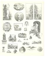 Feuille D'imprimeur ( A. Waton, Saint Etienne ) Illustrée De Dessins (modèles En-tête De Factures ), Portraits, Femmes - Invoices & Commercial Documents