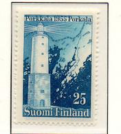 PIA - FINLANDIA - 1956  : Restituzione Di Porkkala Alla Finlandia - Faro Di Porkkala -   (Yv  436) - Fari