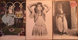 3 Cpa, Algérie, Fatmah, Fatma, La Tenue De Danse De Fatmah, Belle Fatma - Algérie