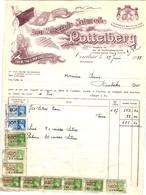 1 Facture Kortrijk Courtrai Eau Minérale Naturelle Du Pottelberg C1938 Tel.361 - 1900 – 1949