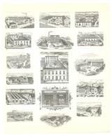 Feuille D'imprimeur ( A. Waton, Saint Etienne ) Illustrée De Dessins (modèles En-tête De Factures ), Usines - Invoices & Commercial Documents