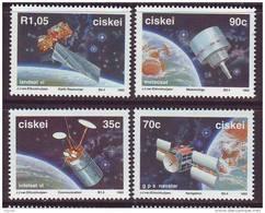 D101225 Ciskei 1992 South Africa PLANET EARTH METEOROLOGY NAVIGATION COMMUNICATION Satellites MNH Set - Afrique Du Sud - Ciskei