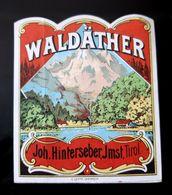 ETIQUETTE ANCIENNE WALDATHER JOH HINTERSEBER TIROL TIROLO APOTHEKE FARMACIA ETICHETTA ETIKETT PHARMACIE AUTRICHE - Etiquettes