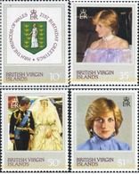Ref. 294383 * MNH * - BRITISH VIRGIN Islands. 1982. 21st ANNIVERSARY  OF THE PRINCESS OF WALES . 21 ANIVERSARIO DE LA PR - British Virgin Islands