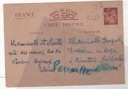 CARTE POSTALE ENTIER POSTAL DATE DE 1941 DONNANT DES RENSEIGNEMENTS FAMILIAUXDE BAGNEUX VERS PIANOTTOLI CORSE - Histoire