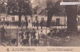 Revue Des Troupes à WESSERLING - 14 Juillet 1915 En Alsace - Militaria