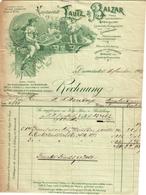 1 Fact Rechnung Darmstadt Kunstanstalt Lautz&Balzar Landschafts-Photographien Lichtdrucken Heliochroms Postkarten C1903 - Belgien