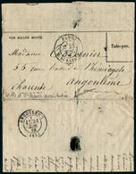 Lettre La Ville D'Orleans, Gazette Des Absents N° 10 23 Nov 70, Départ Paris Rue St Lazare 23 Nov 70 Pour Angoulême, Arr - Postzegels