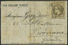 Lettre LE VAUBAN, 26 Oct 70 Pour Bordeaux, Arrivée Le 2/11, Affranchi à 30c, Timbre Défectueux - Postzegels