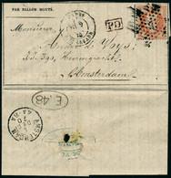 Lettre LE DAGUERRE, Paris 9.11.70, Gazette Des Absents N° 6 à Destination D'Amsterdam, Cachet D'arrivée + Marque E 48, S - Postzegels