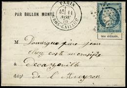 Lettre Le Daguerre, LMI, Càd R. Gros Caillou, 11 Nov 70, + étoile 27, Pour Decazeville Aveyron. T.B. - Postzegels