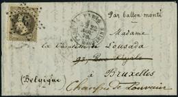 Lettre VILLE D'ORLEANS, 22 Nov 70 Obl. Etoile 3 Affranchi à 30c Pour Bruxelles, Arrivée Au Verso Le 13 Déc 70 + Cachet D - Postzegels