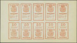Lettre Agence LORIN MAURY, Série Complète De 6 Valeurs En Feuillet De 5 Paires Se Tenant, T.B. Maury 3a/6a - Postzegels