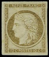 Neuf Sans Gomme N° 1, 10c Bistre, T.B. - Postzegels