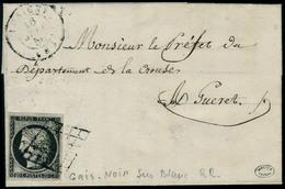 Lettre N° 3j. 20c Gris-noir Sur Blanc, Sur L. CàD Lusigny 16 Juin 50, Pour Guéret, T.B. Signé Darrieux. Maury. - Postzegels