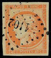 Oblitéré N° 5a, 40c Orange Vif T.B. Signé - Postzegels