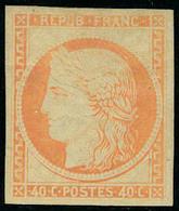 Neuf Avec Charnière N° 5g, 40c Orange Réimpression T.B. Signé A Brun - Postzegels