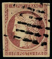 Oblitéré N° 6b, 1f Carmin Obl Légère T.B. Signé DIENA - Postzegels